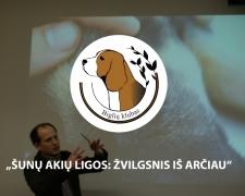 """Seminaro """"Šunų akių ligos: žvilgsnis iš arčiau"""" akimirkos."""